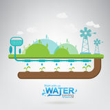 Save The Water Vector Concept Start Saving. Royalty Free Stock Photos