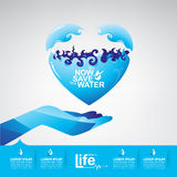 Save The Water Vector Concept Start Saving. Stock Images