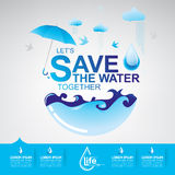 Save Water Vector Stock Image