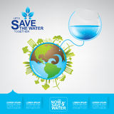 Save Water Vector Royalty Free Stock Photo