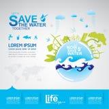 Save Water Vector Royalty Free Stock Photos