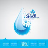 Save Water Vector Stock Photo