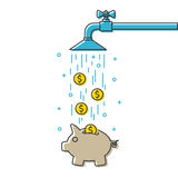 Save water vector illustration Stock Photo