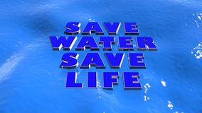 Save Water Royalty Free Stock Photo
