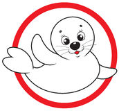Save white-coat seal Royalty Free Stock Image