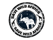 Save Wild Africa stamp Royalty Free Stock Photography