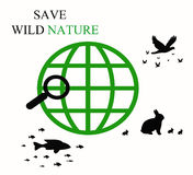 Save wild nature  s Stock Photography