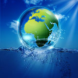 Save the world. Abstract environmental backgrounds for your design Stock Photography