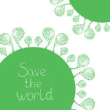 Save the world. Buble trees Royalty Free Stock Photo