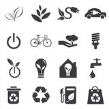 Save the world and clean energy icon. Vector save the world and clean energy icon Stock Image
