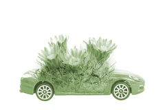 Save The world concept of car and plant Royalty Free Stock Images
