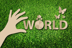 Save the world concept Royalty Free Stock Photos
