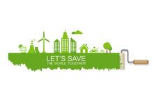 Save the world concept Royalty Free Stock Photo