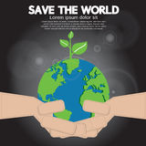 Save The World Conceptual. Royalty Free Stock Photography