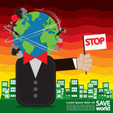 Save World Conceptual. Stock Photos