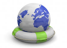 Save the World - 3D Royalty Free Stock Photos