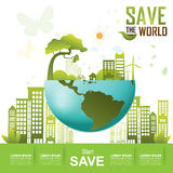 Save the World, Ecology Concept Go Green Royalty Free Stock Image