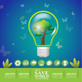 Save the World, Ecology Concept Go Green Stock Photo