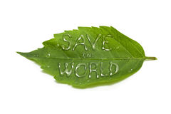Save the world Stock Image