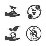 Save the world, Ecology and Power saving Royalty Free Stock Image