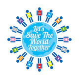 Save the world logo. This is save the world logo design.  file Royalty Free Stock Image