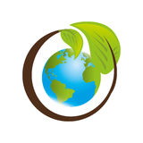 Save the world planet ecology Stock Photo