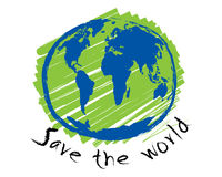 Save the world sketch idea concept vector Stock Images