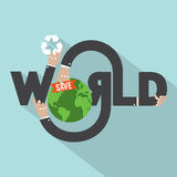 Save World Typography Design Stock Images