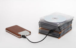 Save you data. Save your cd data on usb hdd Royalty Free Stock Photo