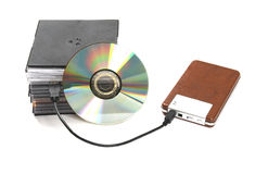 Save your data. On usb hdd, cd disk Stock Photography