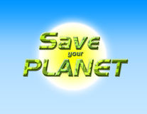 Save your planet Stock Images