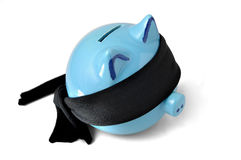 Save your savings. The last day of your piggy money box. Ask him the last desire Stock Image