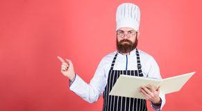 Save your time. Healthy food cooking. Vegetarian. Mature chef with beard. Dieting and organic food, vitamin. copy space stock image