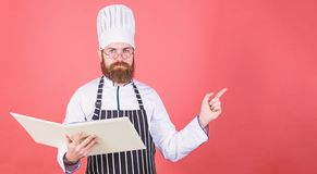 Save your time. Healthy food cooking. Vegetarian. Mature chef with beard. Dieting and organic food, vitamin. copy space stock images
