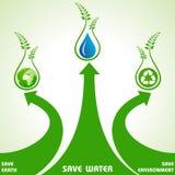 Save ziemię, wodę i środowiska pojęcie, ilustracja wektor