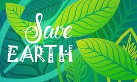 Save Ziemskiego Światowego środowiska dnia ekologii ochrony wakacje kartka z pozdrowieniami Obraz Stock