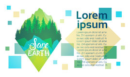 Save Ziemskiego Światowego środowiska dnia ekologii ochrony wakacje kartka z pozdrowieniami Zdjęcie Royalty Free
