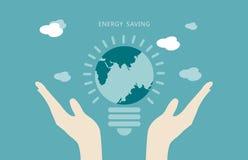 Saveing begrepp för energi Royaltyfria Bilder