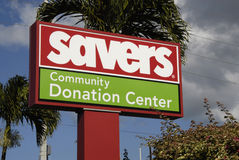 SAVERS BILLBOARD Stock Photo
