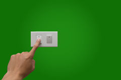 Saves the Earth. By turn off lighting Royalty Free Stock Photography
