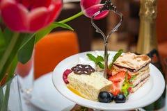 Saveur assortie délicieuse des desserts Photographie stock