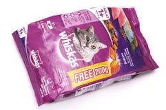 Saveur 1 de maquereau de Whiskas paquet 4kg Image stock