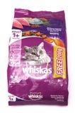 Saveur 1 de maquereau de Whiskas paquet 4kg Photographie stock