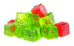 Saveur Jelly Cubes de fruit photographie stock libre de droits