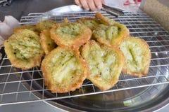 saveur pandan cuite à la friteuse de farine de riz Photo stock