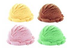 Saveurs de scoop de crème glacée  photographie stock