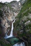 Savica, Julian Alps, Slovenië Royalty-vrije Stock Foto