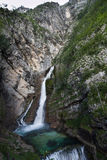 Savica, Julian Alps, Slovenia. Savica waterfall, Julian Alps, Slovenia Royalty Free Stock Photo