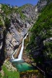 Savica Wasserfall Lizenzfreies Stockbild