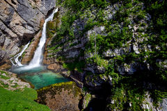 Savica waterfall Royalty Free Stock Photography